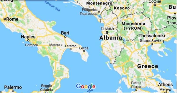 albania google map
